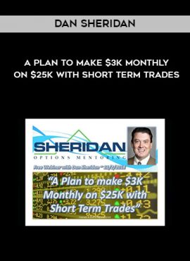 Dan Sheridan – A Plan to make $3k Monthly on $25k with Short Term Trades by https://lobacademy.com/