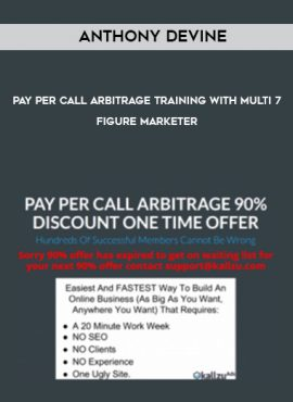 Anthony Devine – Pay Per Call Arbitrage Training With Multi 7-Figure Marketer by https://lobacademy.com/