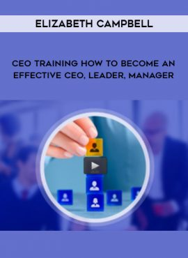 Elizabeth Campbell – CEO training How to become an effective CEO