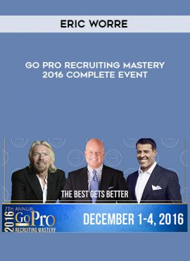 Eric Worre – Go Pro Recruiting Mastery 2016 Complete Event by https://lobacademy.com/