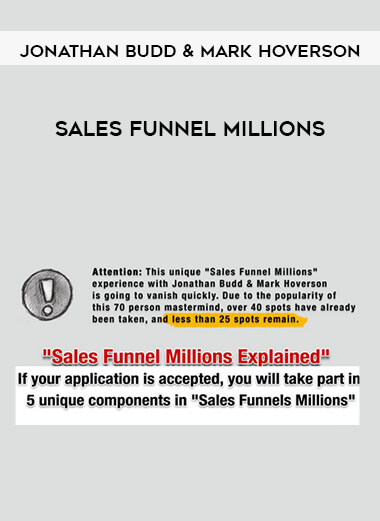 Jonathan Budd & Mark Hoverson - Sales Funnel Millions by https://lobacademy.com/