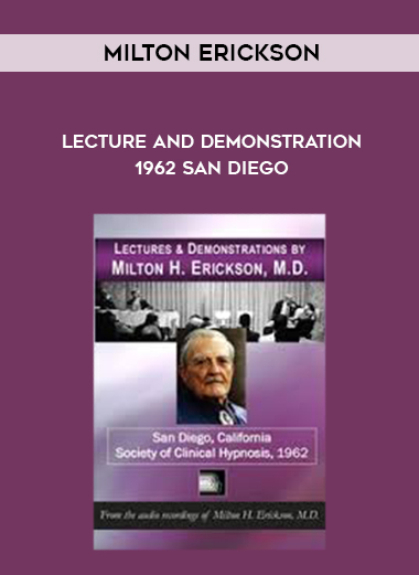 Milton Erickson – Lecture and Demonstration 1962 San Diego by https://lobacademy.com/