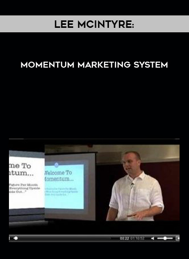 Lee McIntyre: Momentum Marketing System by https://lobacademy.com/